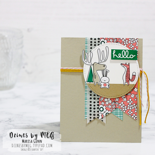 Friendship card featuring the Pick a Pattern product suite from Stampin' Up by Marisa Gunn.