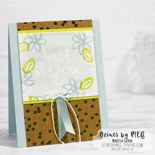 Emboss resist cards featuring Watercolor Words Stamp Set from Stampin' Up by Marisa Gunn