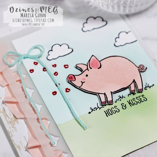 Sweetheart Card featuring This Little Piggy Stamp Set from Stampin' Up by Marisa Gunn