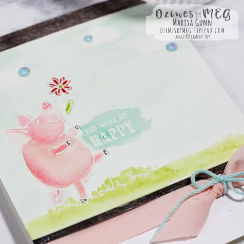 Friendship Card featuring This Little Piggy Stamp Set from Stampin' Up by Marisa Gunn