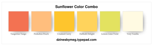 Sunflower Color Combo