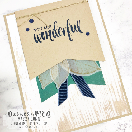 Masculine encouragement card featuring the Rooted in Nature Bundle from Stampin' Up by Marisa Gunn for Fancy Friday