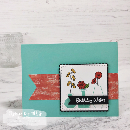 Birthday Card featuring Varied Vases from Stampin Up by Marisa Gunn for Fancy Friday Color Refresh