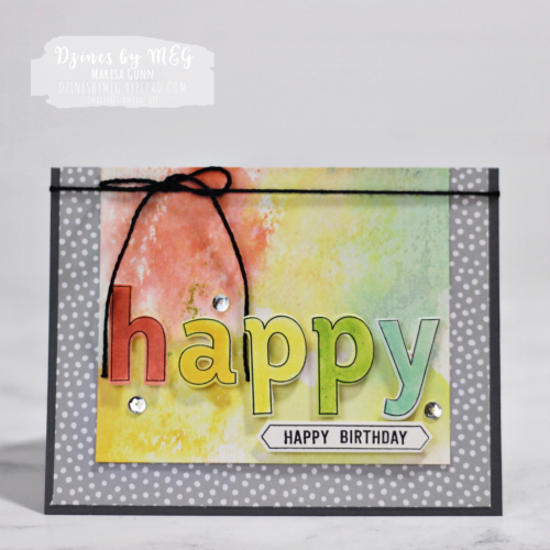 Birthday cards featuring the Lined Alphabet Bundle from Stampin' Up by Marisa Gunn for Fancy Friday.