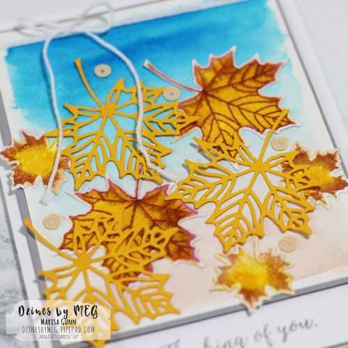 Thinking of You card featuring Colorful Seasons from Stampin' Up by Marisa Gunn for Fancy Friday