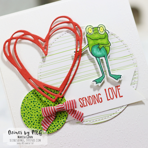 Friendship card featuring the So Hoppy Stamp Set from Stampin' Up by Marisa Gunn for TGIFC.