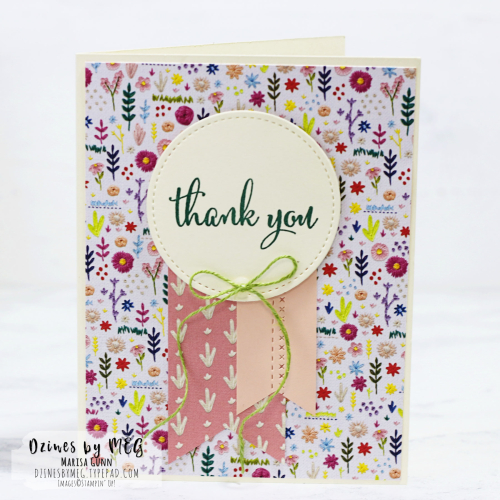 Greeting Cards featuring Needlepoint Nook Designer Series Paper from Stampin' Up by Marisa Gunn for Fancy Friday.